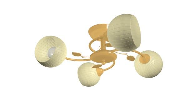 chandelier lamp lighting 3D model