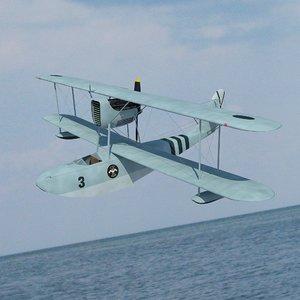3D seaplane macchi m 41