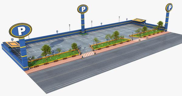 3D parking exterior model