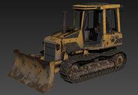 3D model bulldozer dozer