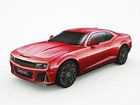 3D generic muscle-car v4 car model