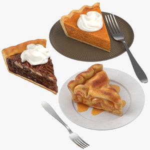 pie slices 3D model