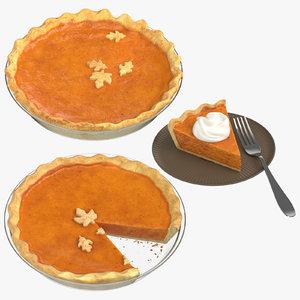 pumpkin pie 3D model