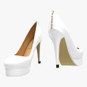 3D white shoes