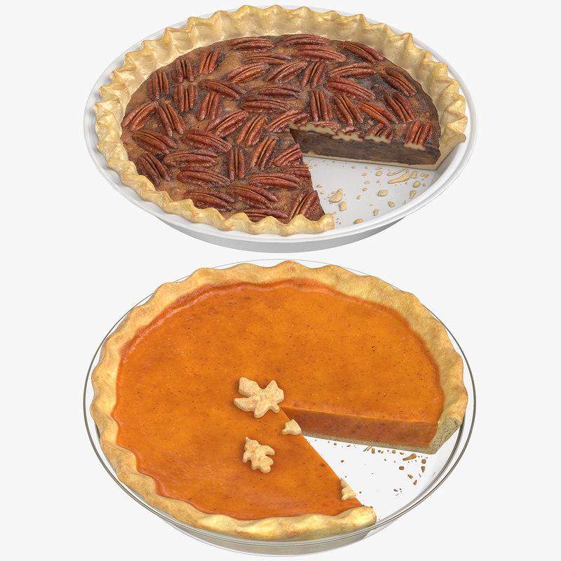 3D sliced pies