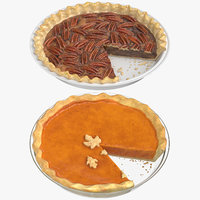 3D sliced pies