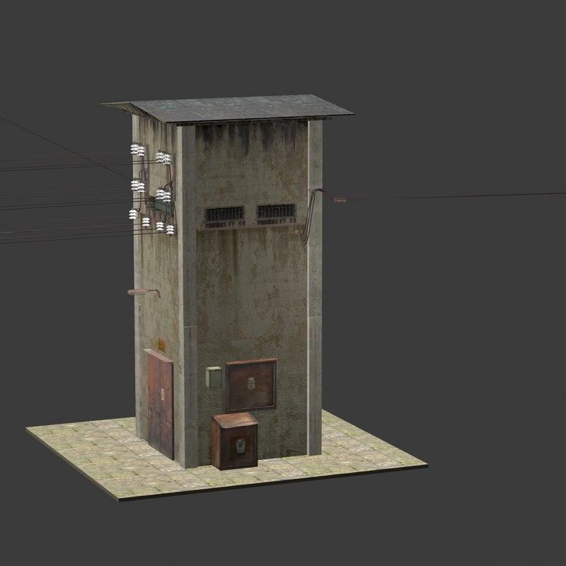 electric transform tower 3D model