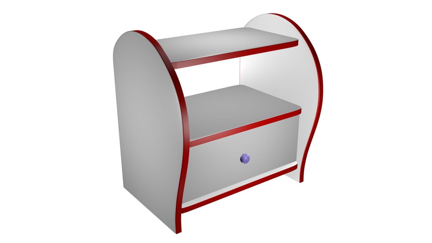 3D shoe cabinet model