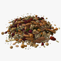 big mix muesli dried 3D model