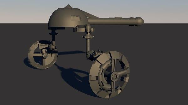 3D war robot guns model