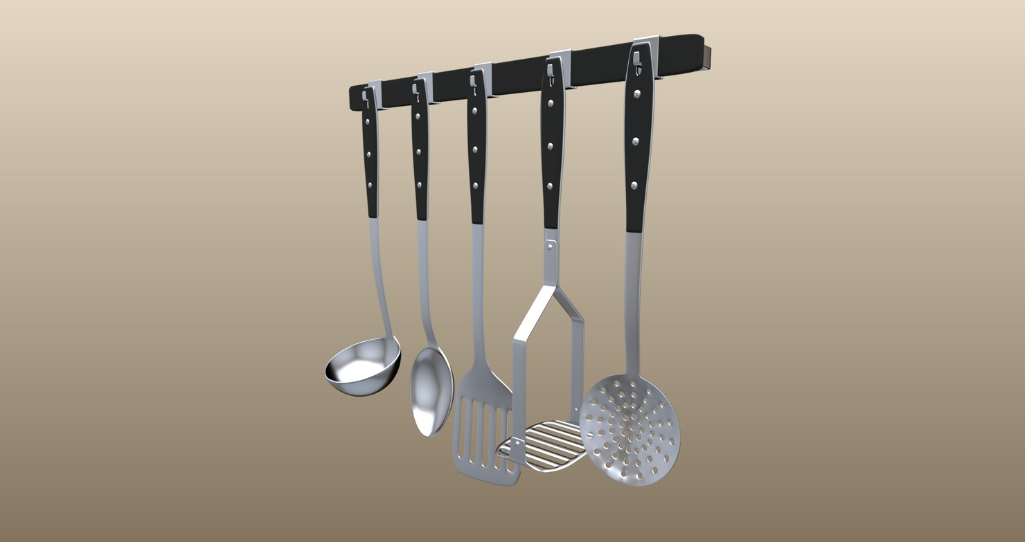 kitchen tool set 3D