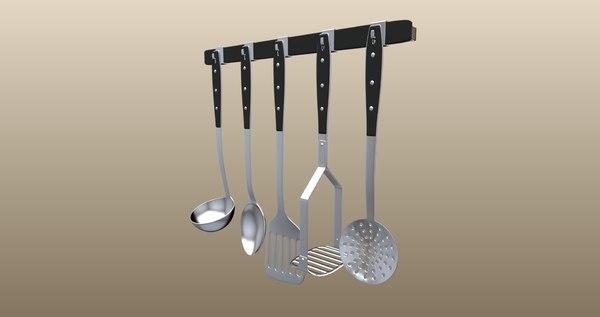 kitchen tool set 3D