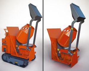 3D hinowa concrete mixer model
