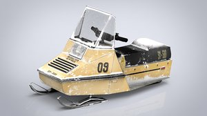 3D model snowmobile vehicle transport