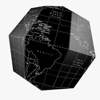 Dark Earth Globe