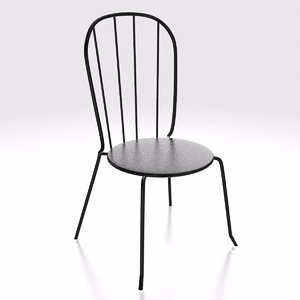 3D outdoor steel bistro chair