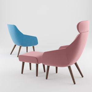 3D chair armchair furniture model