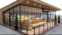 food supermarket store 3D model