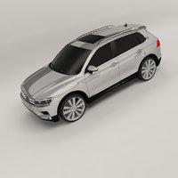 3D volkswagen tiguan 2015 model