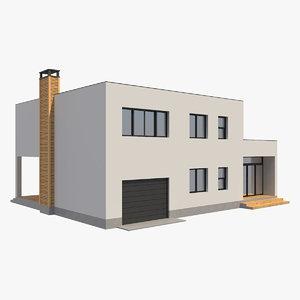 modern house 2 3D model