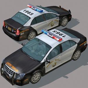 3dsmax highway car wheel police