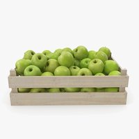 Apple Granny Smith Wooden Crate