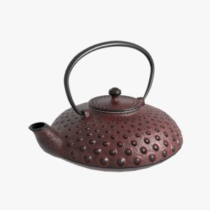 3D model cast iron teapot