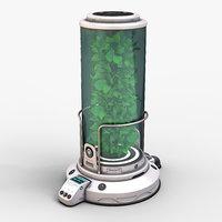 3D plant incubator 03 model