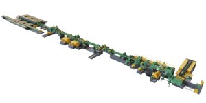 3D metal sheet cutting conveyor model