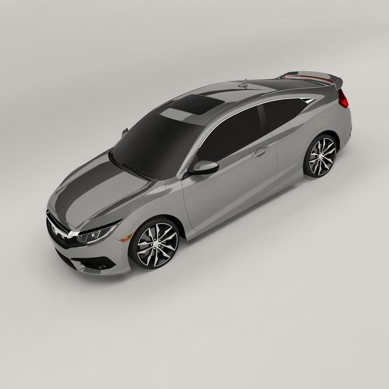 honda civic 2016 3D model