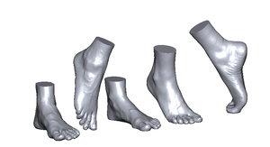 scans foot 3D model