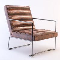 3D arm chair pearl armchair model