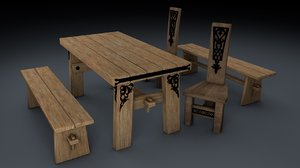 set tables chair model