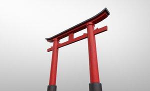3D japanese torii