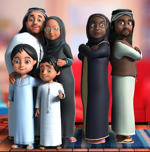 3D cartoon arab