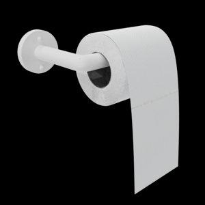 3D toilet paper simple rig