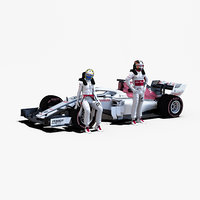 rigged f1 car model