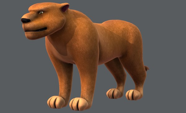 3D lion v01 cartoon animal