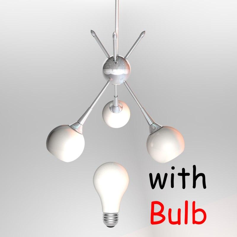 3D chandelier light lamp