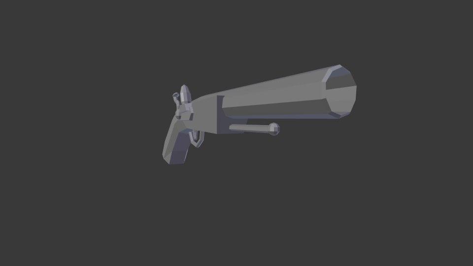 3D silicon pistolete flintlock guns