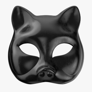 black cat mask 3D model