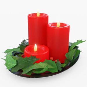 candle christmas 3D