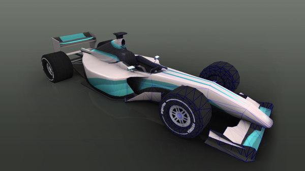 racing sport car 3D model