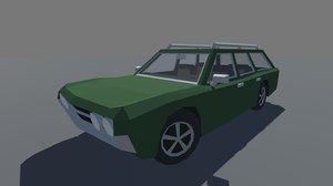 car interior ready mobile 3D model