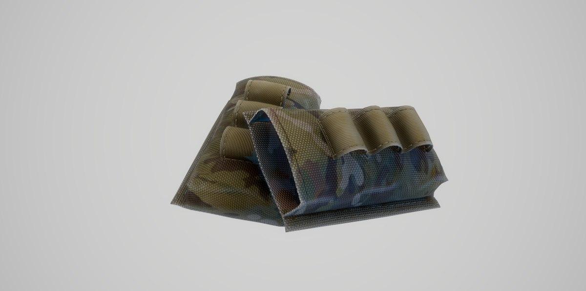 military pouches m4 magazine 3D