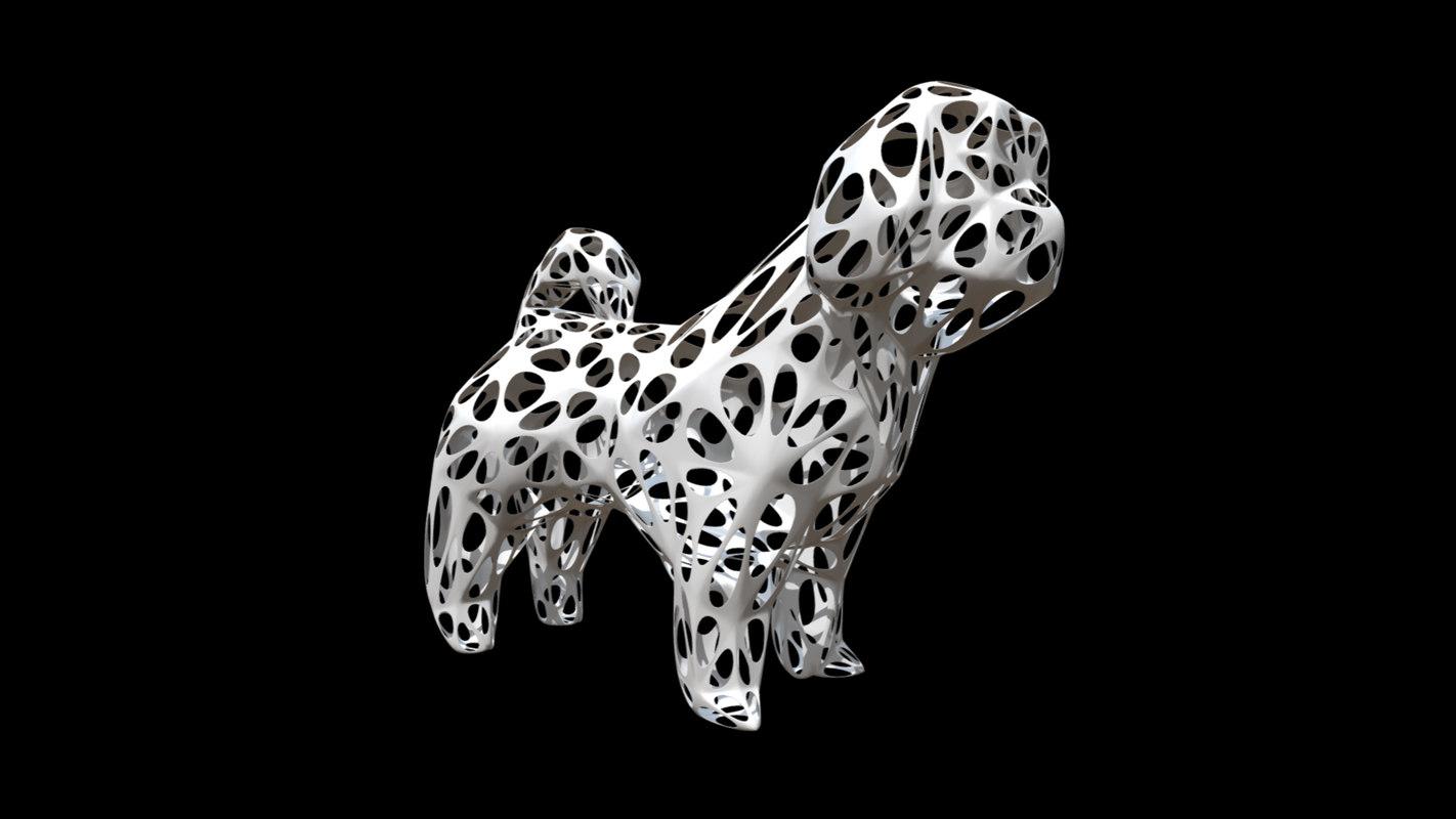 printed dog shih tzu 3D model