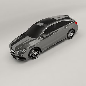 3D model mercedes-benz cla45 amg shooting