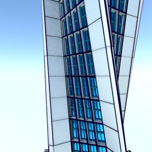 skyscraper building architecture 3D model