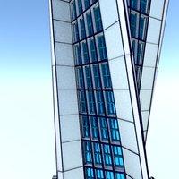 skyscraper building architecture 3D model