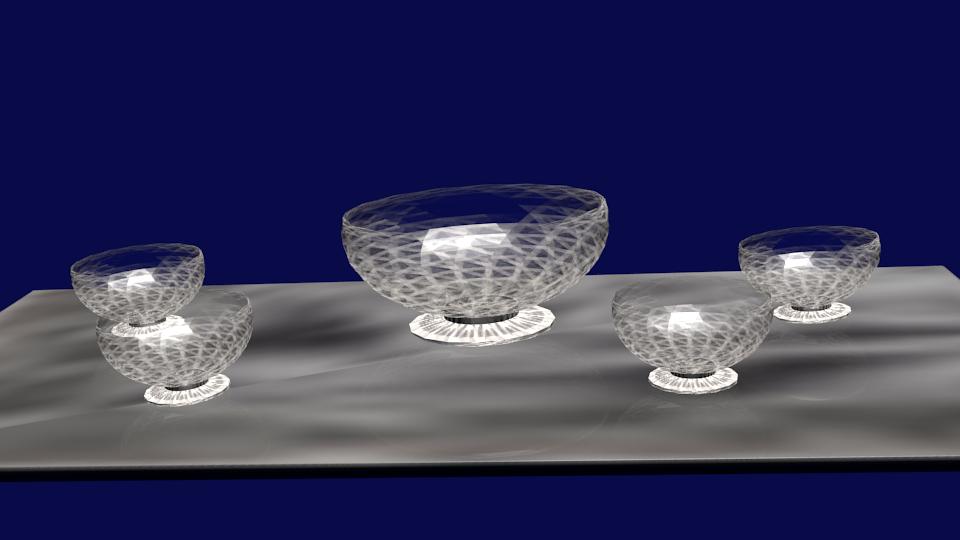 3D cristal set